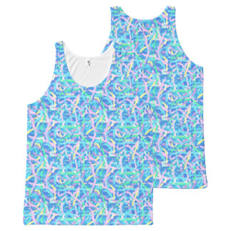 Unisex Tank Top - Seaweed Sunlit Water Bubbles All-Over Print Tank Top