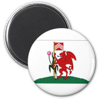 United Kingdom Cardiff Flag 6 Cm Round Magnet