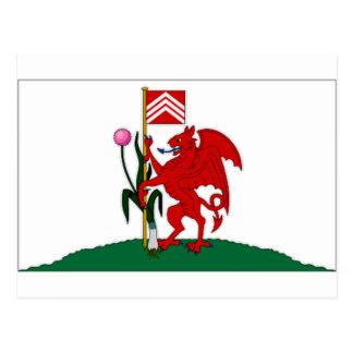 United Kingdom Cardiff Flag Postcard