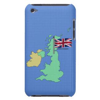 United Kingdom Flag and Map iPod Case-Mate Case
