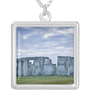 United Kingdom, Stonehenge 3 Silver Plated Necklace