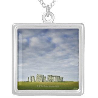 United Kingdom, Stonehenge 8 Silver Plated Necklace