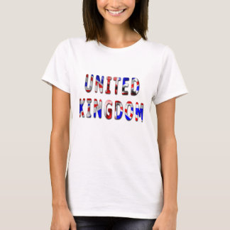 United Kingdom Word Flag Texture Women's T Shirt