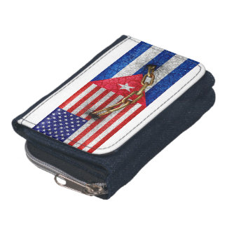 United States and Cuba Flags United Wallet