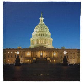 United States Capitol Building at Dusk Napkin