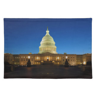 United States Capitol Building at Dusk Placemats