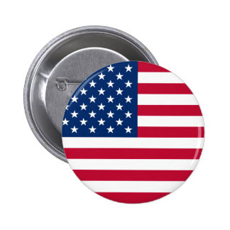 United States Flag 6 Cm Round Badge
