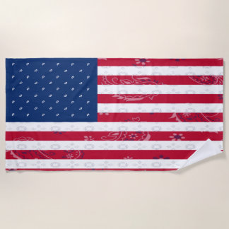 United States Flag Beach Towel