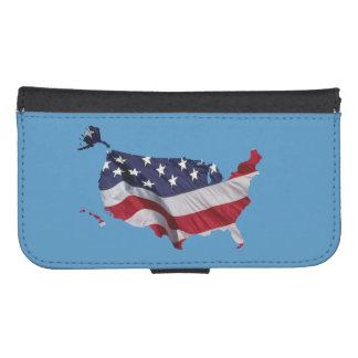 United States Flag Map Samsung S4 Wallet Case