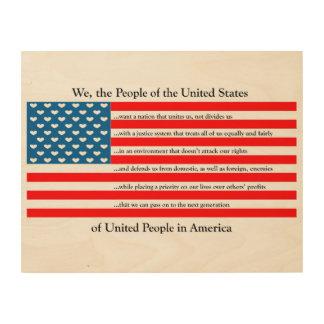United States of Love Oath (Wood Print) Wood Print