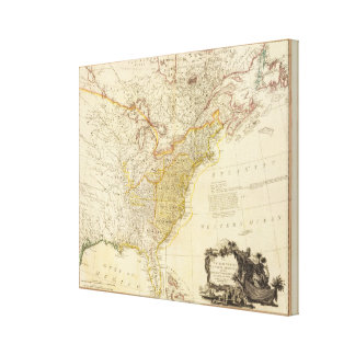 United States of North America Atlas Map Canvas Print