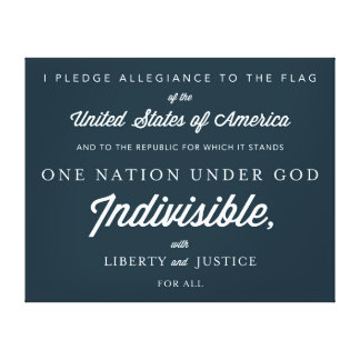 United States Pledge Canvas Print