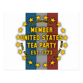 United States Tea Party Post Card