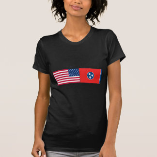United States & Tennessee Flags Tee Shirts