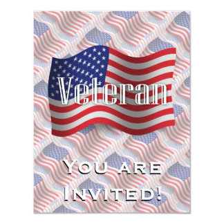 United States Veteran Waving Flag Card