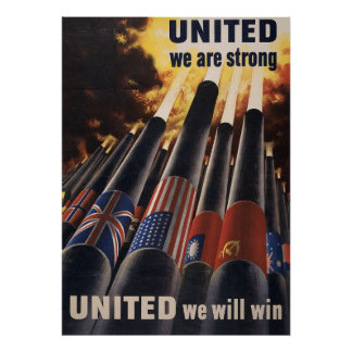 United We Are Strong United We Will Win Poster