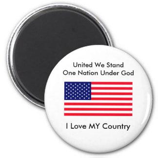 United We Stand One Nation Under God Refrigerator Magnet