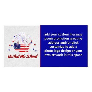 United We Stand Personalized Photo Card