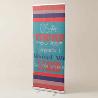 United We Stand Retractable Banner