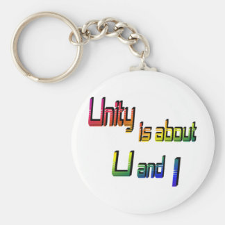 Unity Is about U and I Keychain
