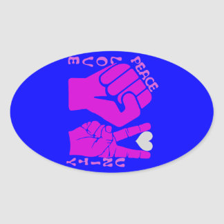 Unity,Love & Peace,Togetherness_ Oval Stickers