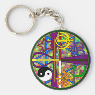Unity Spiritual Symbols Key Ring