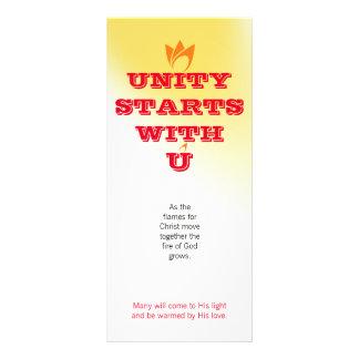 UNITY STARTS WITH U (orange fire) & Logo 10 Cm X 23 Cm Rack Card