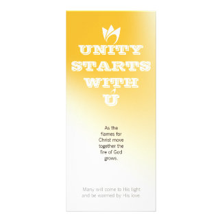 UNITY STARTS WITH U (white fire) & Logo Rack Card Design