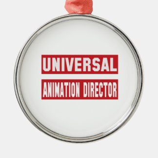 Universal Animation director. Silver-Colored Round Decoration