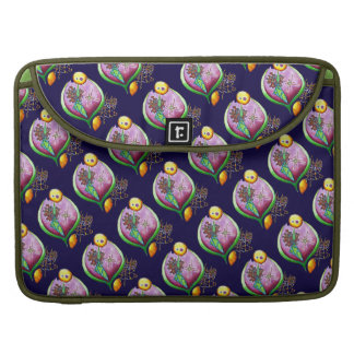 Universe of nut - pop nature illustration green sleeve for MacBook pro