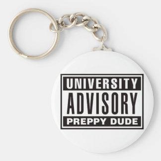 University Advisory Preppy Dude Key Ring
