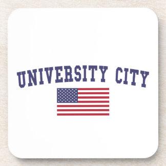 University City US Flag Coaster