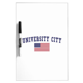 University City US Flag Dry Erase Board