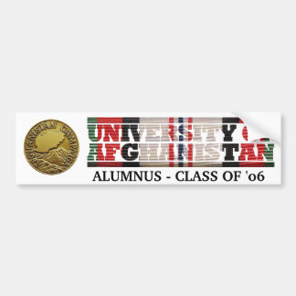 University of Afghanistan Alumnus Sticker Bumper Sticker
