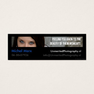 Unmerited Photography Mini Business Card