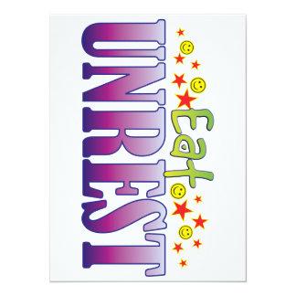 Unrest Eat 14 Cm X 19 Cm Invitation Card
