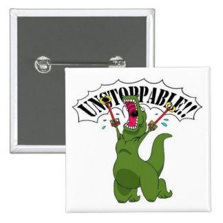 Unstopable T-Rex 15 Cm Square Badge