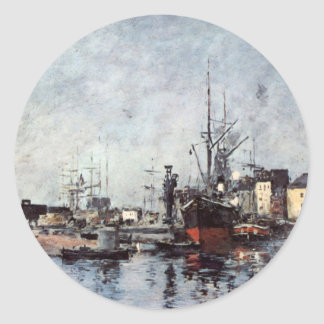 Untitled by Eugene Boudin Classic Round Sticker