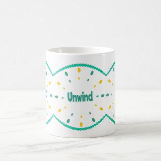 Unwind laze, relax mug