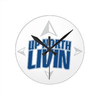 Up North Livin - Compass Round Clock