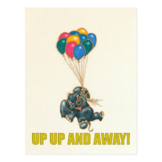 Up up and away! postcard