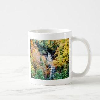 Upper Peninsula Waterfall In Autumn Coffee Mug