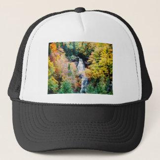 Upper Peninsula Waterfall In Autumn Trucker Hat