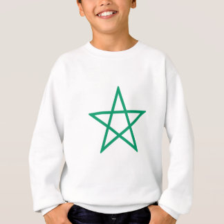 Upright Green Pentagram Sweatshirt