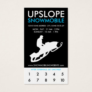 upslope snowmobile rewards program business card