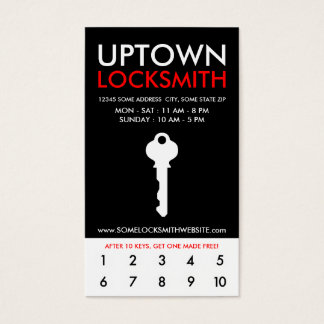 191 return business cards and return business card templates uptown locksmithv loyalty business card colourmoves Choice Image