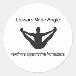 Upward Wide Angle Round Sticker