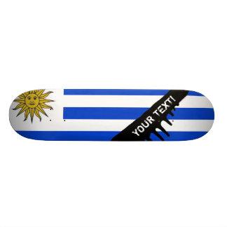 Uraguay flag 20 cm skateboard deck