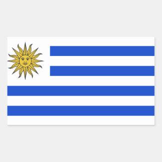 Uraguay flag rectangular sticker