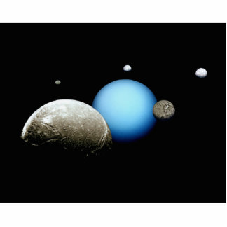 Uranus and Moons NASA Planet Acrylic Cut Outs